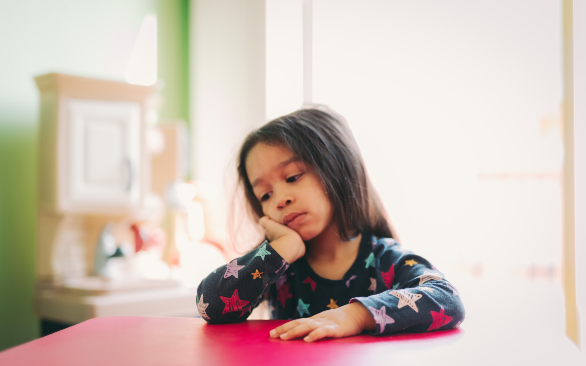 Subtle facial actions of child facing separation anxiety